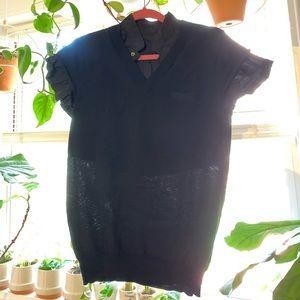 Sacai Black Layered Top